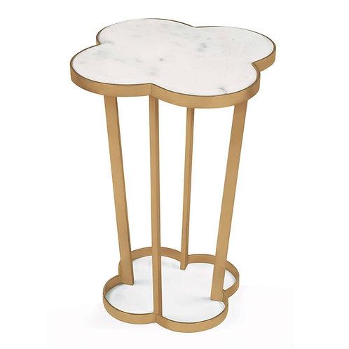 #10574 Quatrefoil table (Natural Brass)