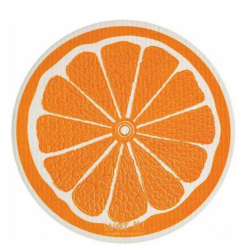 #9952 Round Orange Swedish Dishcloth