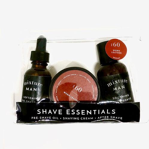 #8327 Men's Shave Essentials Kit, Worn Leather