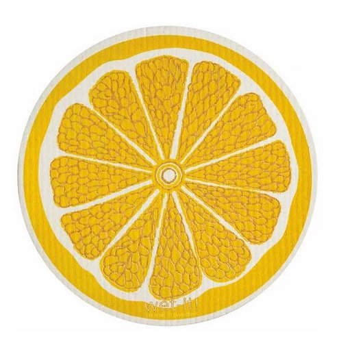 #9950 Round Lemon Swedish Dishcloth