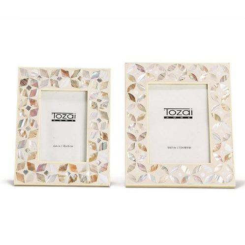 #10084 White & MOP Inlay Frame (4x6)
