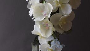 MASAKOフラワーデザインの展示販売作品で今回は胡蝶蘭のウエディングブーケをご紹介いたします。