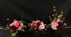短大生のレッスン作品、「バラの花束」