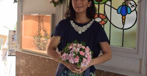 フラワー装飾技能検定3級レッスン「花束」りほさんの作品