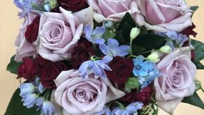 短大生の作品、N F D資格検定3級レッスン「丸い花束」