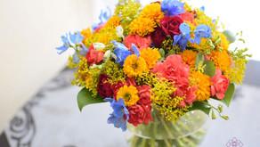 講師新規登録レッスン作品「モダン装飾的花束」