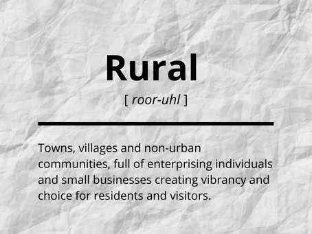 A new definition of 'rural'