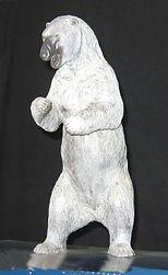 art bronze sculpture polar bear by Catherine Anderson