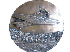 RAAF bronze artwork Wirraway public art, wyaralong