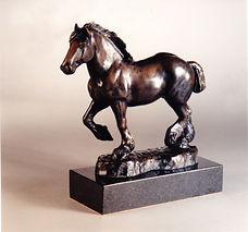 art bronze sculpture Clydesdale horse by Catherine Anderson