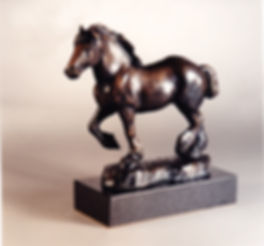 art bronze sculpture Clydesdale by Catherine Anderson