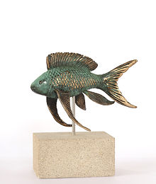 art bronze sculpture Fairy Basslet fish by catherine Anderson