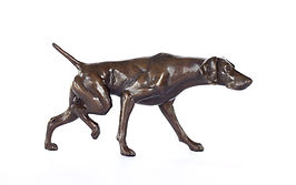 bronze sculpture german shorthaired pointer by catherine anderson