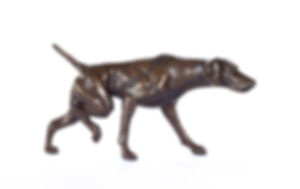 bronze sculpture german shorthaired pointer dog The Find by Catherine Anderson