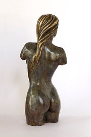 figurative art bronze sculpture nude Woman by Catherine Anderson