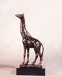 limited edition art bronze sculpture Giraffe by Catherine Anderson