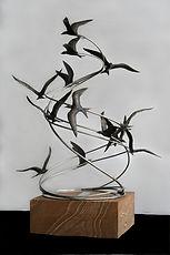 bronze sculpture, art, sculptures, Catherine Anderson, Australia, terns, artist, art, original queensland bronzes, sculptures, fine art
