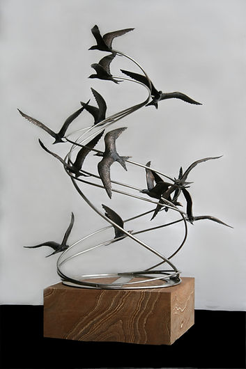 Catherine Anderson Bronze sculpture On the Wing original fine art sculpture