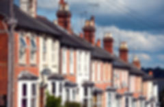 Row of Typical English Terraced Houses