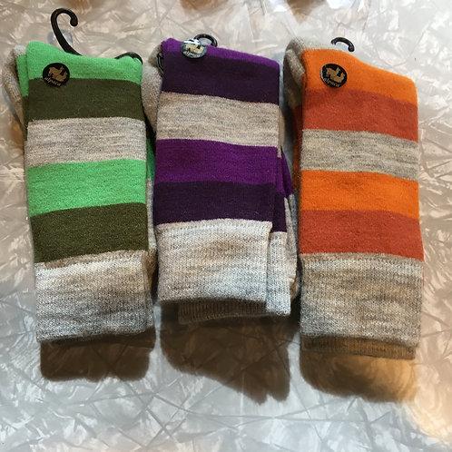 Alpaca Striped Socks
