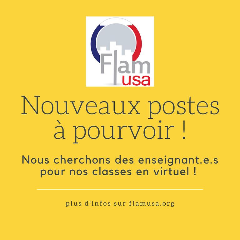 [Webinaire] Devenir professeur.e de français aux Etats-Unis