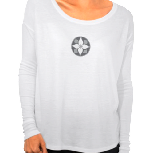 Women's Bella Flowy Long Sleeve Shirt with Fitted Lon
