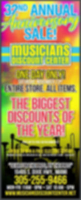 32nd Anniversery Sale Musicians Discount