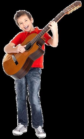 Happy Guitar Student