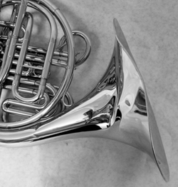 Before French Horn Dent Removal