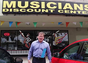 Grant Miller visits Musicians Discount