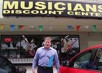 Grant Miller visits Musicians Discount