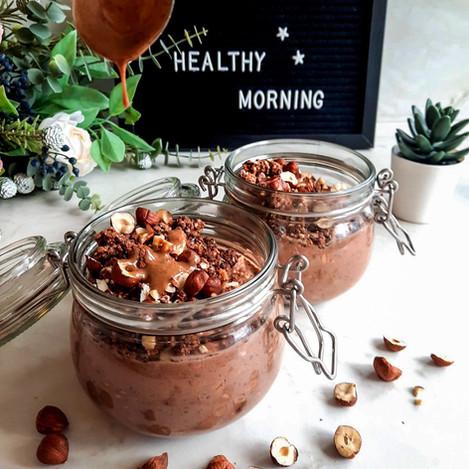 Шоколадова закуска с овесени ядки