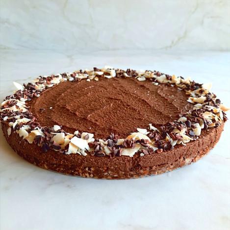 Шоколадова торта с еспресо и ядки