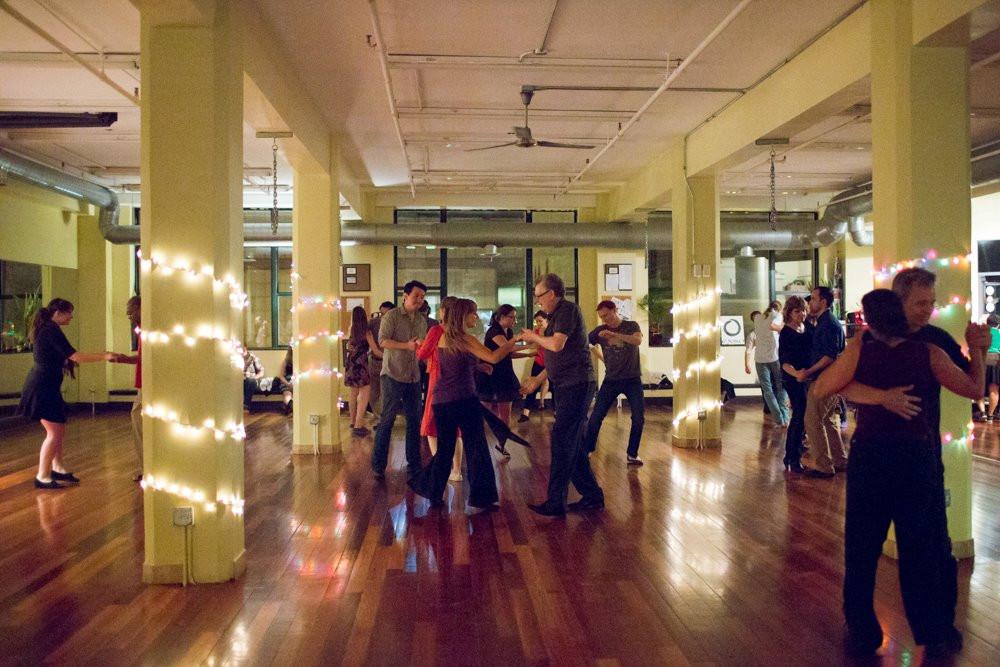 dance floor with dancers