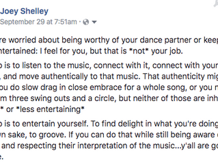 The Job of a Social Dancer