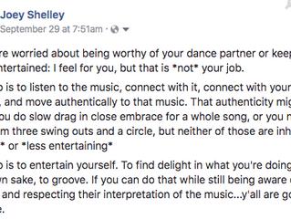 The Job of a Social Dancer