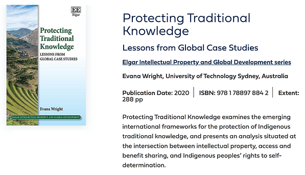 Protecting Traditional Knowledge_Book Pr