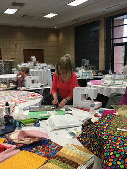 Quilting away!