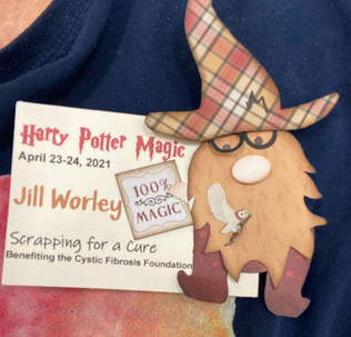 Harry Potter GNOME name badge bling by Kiwi Lane