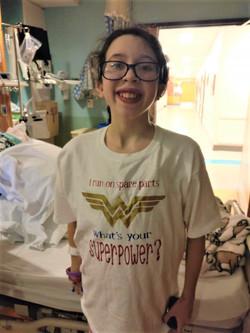 Kaitlyn after her liver transplant