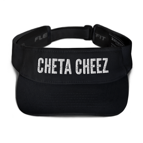 """""""Cheta Cheez"""" Visor (White Font)"""