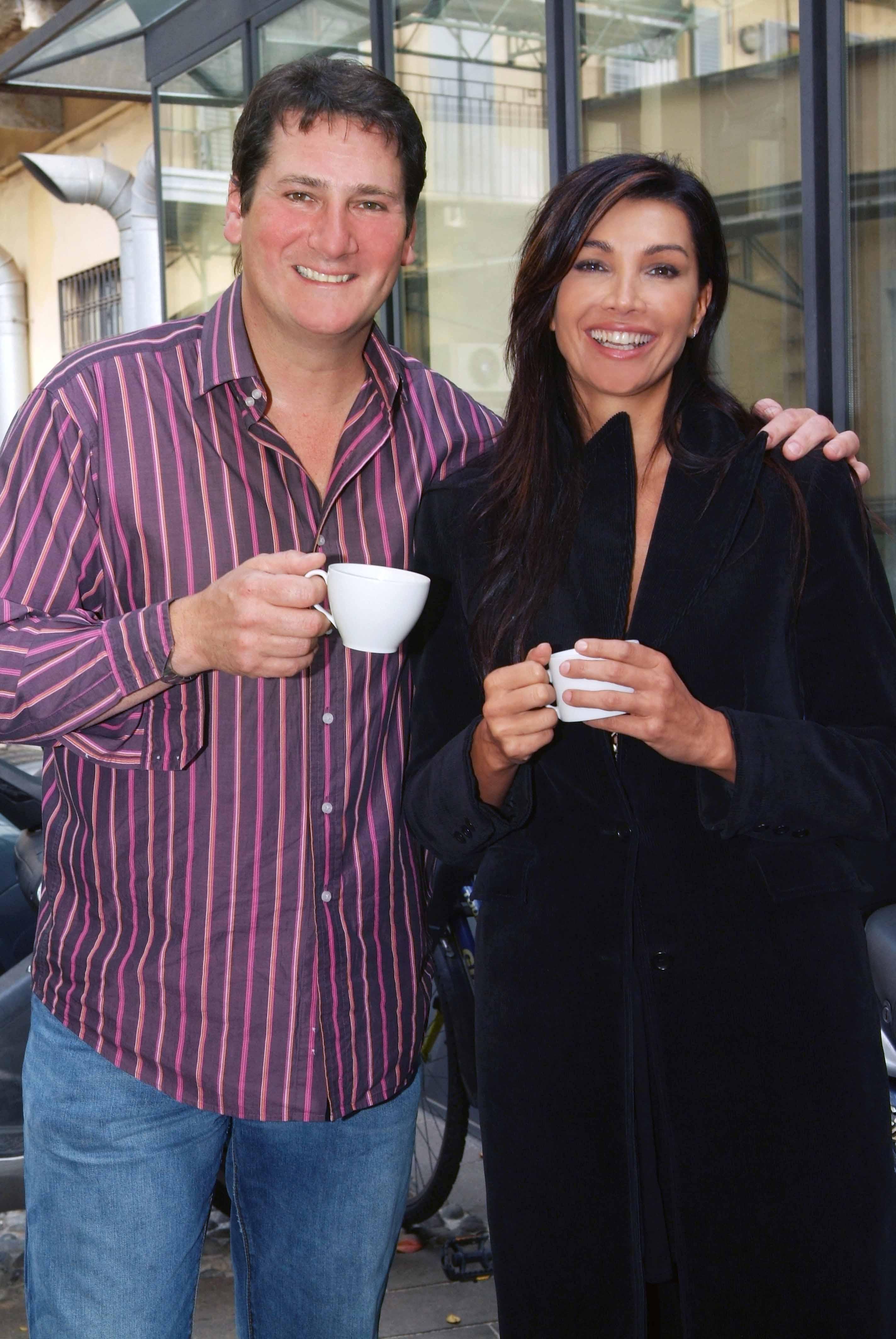 Tony Hadley con Luisa Corna
