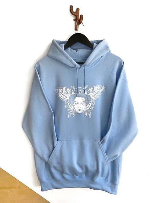 Butterfly Bae Hoodie Blue