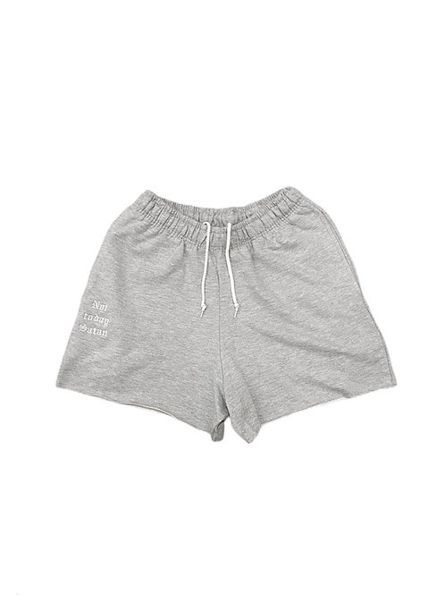 Grey Sweat Shorts (Matching Scrunchie)