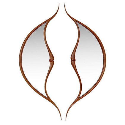 Pair of Nouveau Style Mirrors