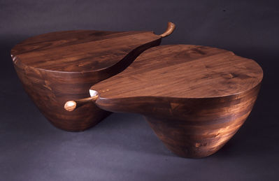 Pair of Pear Coffe Tables by Mark S. Levin