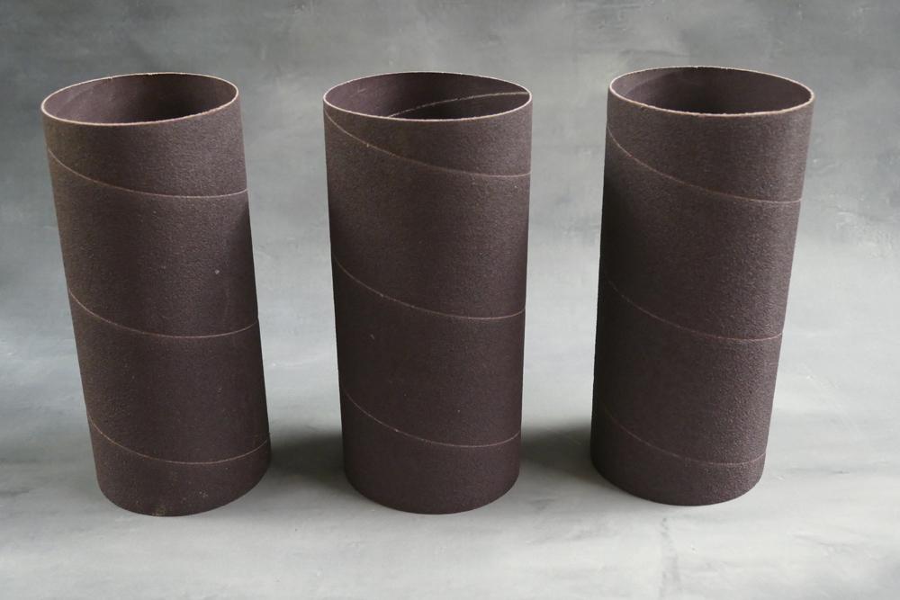 Three 4 x 9 Inch Abrasive Sleeves