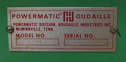 Name Plate-Actually Model 72 Saw