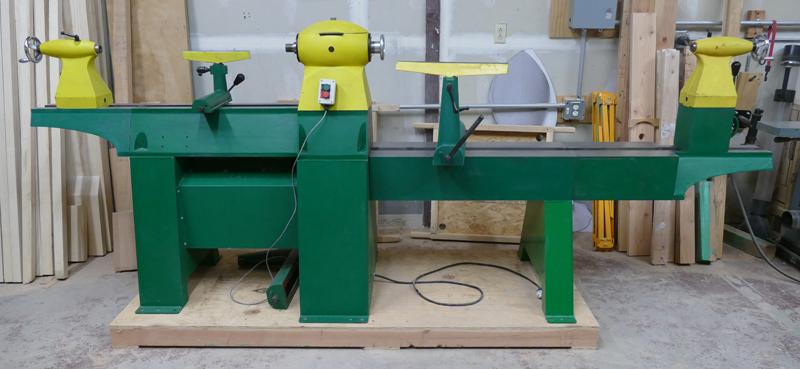 Woodtek #1 Lathe back view