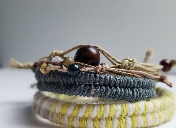 Gray Hemp Bracelet